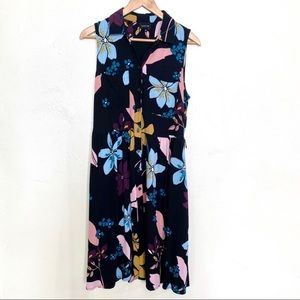 Who What Wear floral sleeveless dress size medium